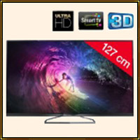 TV 4K LED 3D PHILIPS 50PUS6809 - 3D Smart TV Ultra HD 127 cm